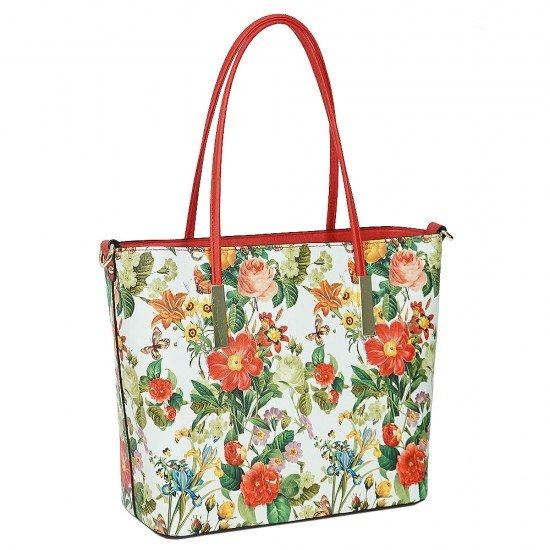 Чанта НВ888 голяма с оранжеви дръжки