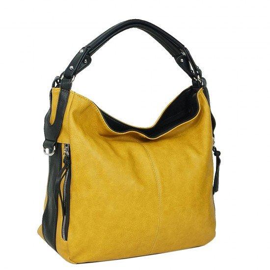 Чанта НВ038 жълта с черни дръжки
