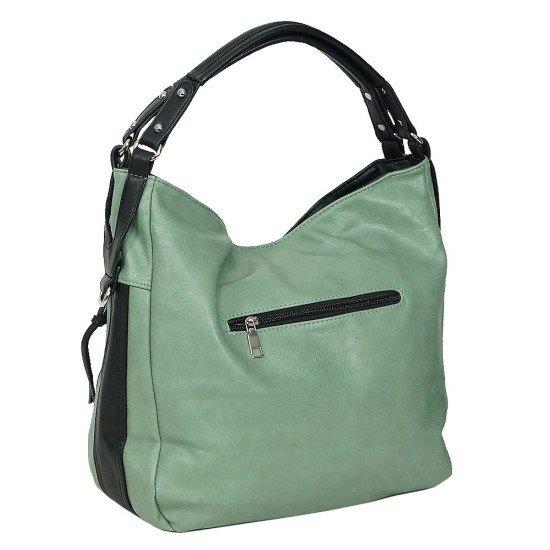 Чанта НВ038 зелена с черни дръжки