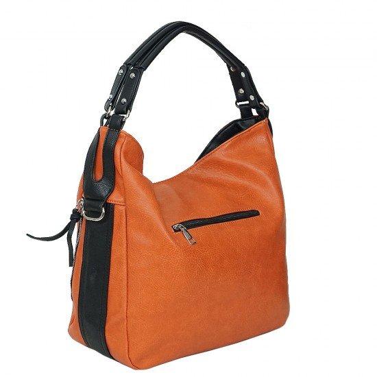 Чанта НВ038 оранжева с черни дръжки