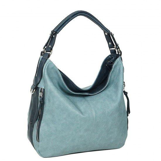 Чанта НВ038 светло синя с тъмно сини дръжки