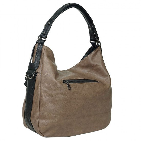 Чанта НВ038 тъмнокафява с черни дръжки