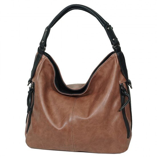 Чанта НВ038 кафява с черни дръжки