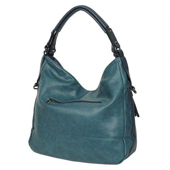 Чанта НВ038 синя с тъмносини дръжки