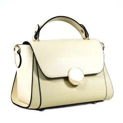 Чанта естествена кожа 5862beige