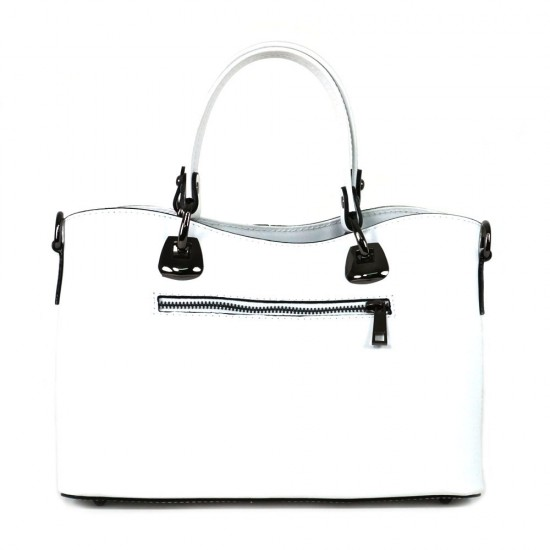 Чанта естествена кожа 223white