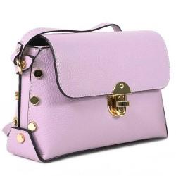 Чанта естествена кожа 5832lilac