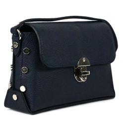 Чанта естествена кожа 5832blue