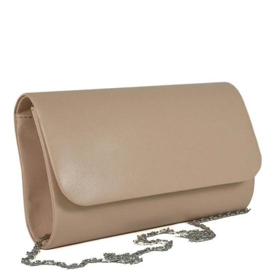 Чанта плик 859бежова кожа