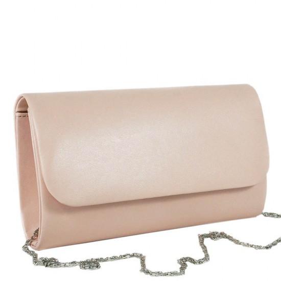 Чанта плик 859розова кожа