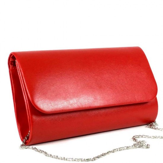 Чанта плик 859червена кожа