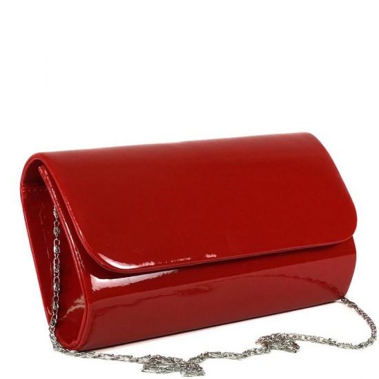 Чанта плик 859червен лак