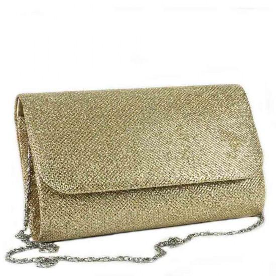 Чанта плик 859златист текстил