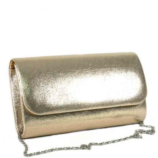 Чанта плик 859златиста кожа