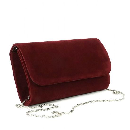 Чанта плик 859червен набук