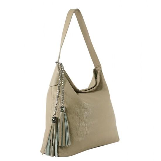 Чанта естествена кожа 117khaki