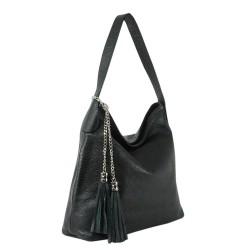 Чанта естествена кожа 117black