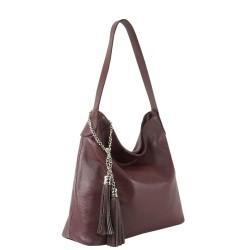 Чанта естествена кожа 117bordo