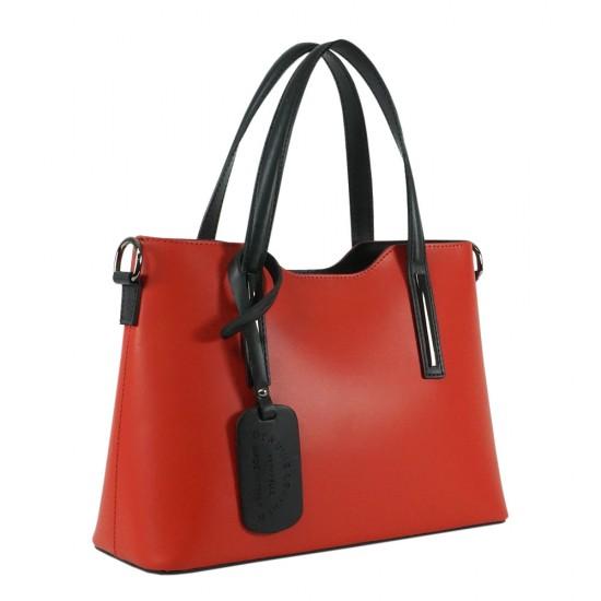 Чанта естествена кожа 201red