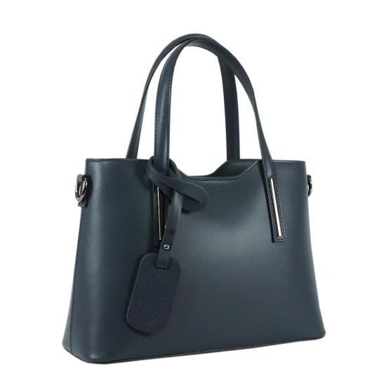 Чанта естествена кожа 201blue