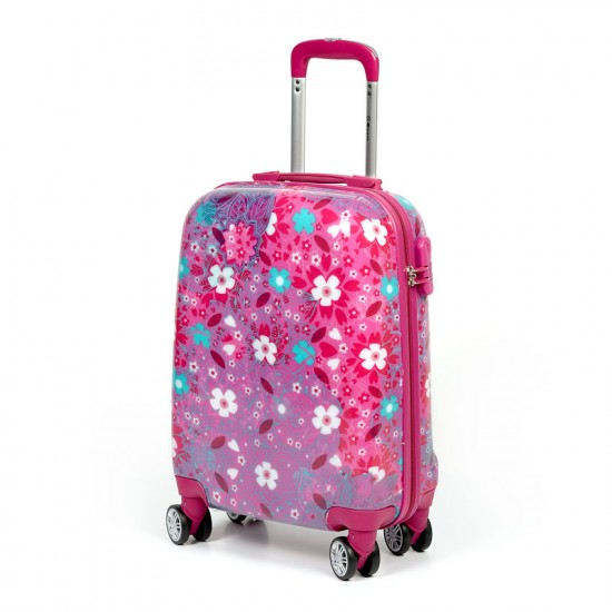 Куфар Естил, модел Fun - Розов - 55см