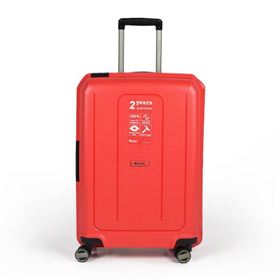 Куфар Естил, модел Shell - червен - 76см