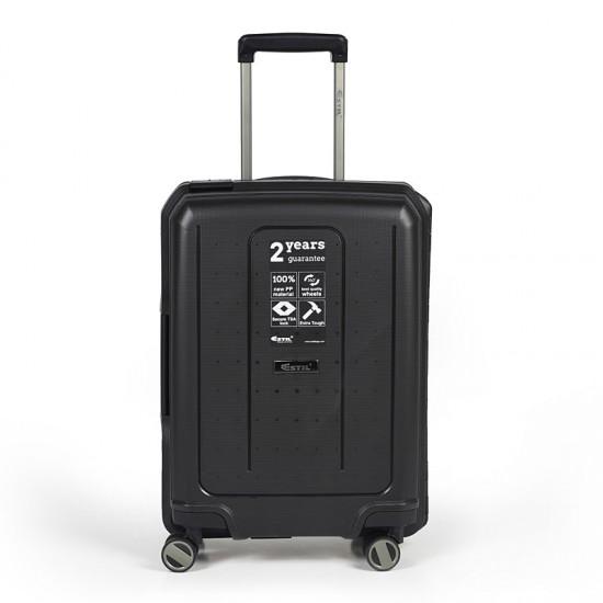 Куфар Естил, модел Shell - черен - 55см